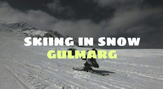 Skieing In Snow At Gulmarg
