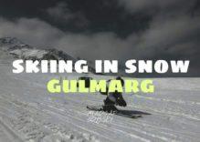 Skieing In Snow At Gulmarg